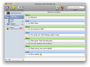IRC Clients-Colloquy-ChatWithSidebar.png